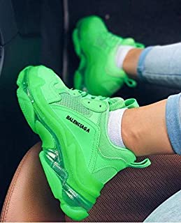 BALENCIAGA Triple S Green Sneakers - Unisex