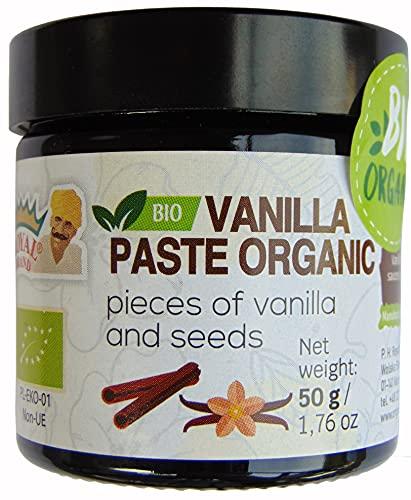 Biologische vanillepasta met stukjes vanille en zaadjes/ 50 g