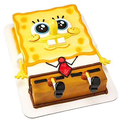 DecoPac 24493 SPONGEBOB SQUAREPANTS-CREATIONS Cake Topper for Birthdays and Parties, 1 SET, Multiple