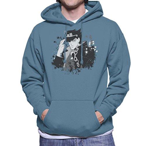 Cloud City 7 Jojos Bizarre Adventure Jotaro Paint Splatter Men's Hooded Sweatshirt