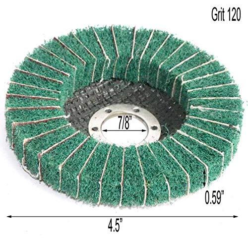 Miner Nylon Fiber Flap Polijstschijf Slijpschijf Niet-geweven 115 * 22mm Schuurpad Polijstschijf voor Haakse slijper, Korrel 120,10st
