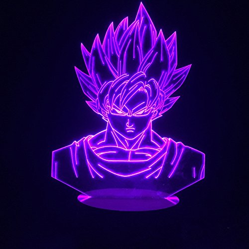 Large Image Dragon Ball Z Goku Acrylic 3D Night Lights USB LED Table Lamp Touch Control Home r2d2 3D...