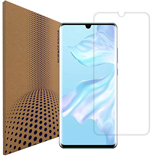 VLP Compatible con Huawei P30 Pro Vidrio Protector de Pantalla, Borde 3D Curvo Anti Huella & Digital Cristal Templado Película Protectora para Huawei P30 Pro