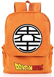 Ersak Dragon Ball Goku Sackpack Unisex Anime Cosplay Canvas Unisex School Shoulder Bag Teens (C)