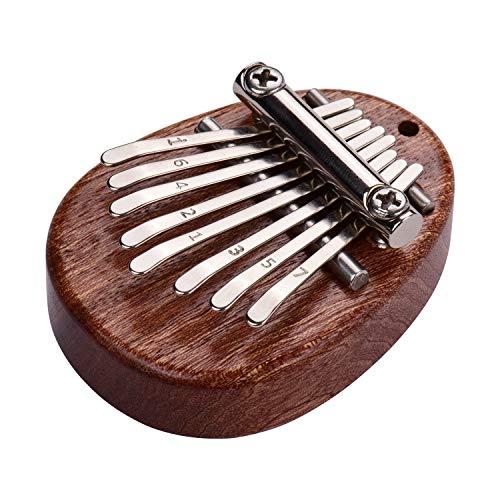 Muslady Daumen Klavier 8 Tasten Mini Daumen Klavier Finger Percussion Kalimba
