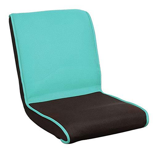 LJFYXZ Canapé Paresseux Chaise Mini Chaise Pliable Deux Tissus Confortable et Respirant dortoir fenêtre en saillie Canapé Simple Multicolore en Option (Couleur : Bleu Clair)