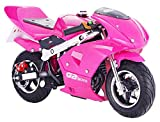 GBmoto Gas Pocket Bike 40cc 4-Stroke in Pink