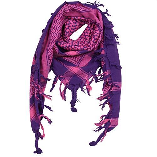 Superfreak Palituch - lila - pink - 100x100 cm - Pali Palästinenser Arafat Tuch - 100% Baumwolle
