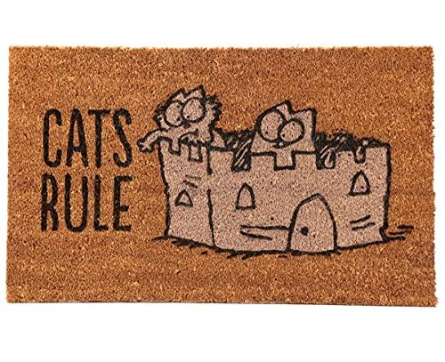 Puckator Simon'S Cat - Felpudo de Fibra de Coco, marrón, 75 x 2 x 45 cm