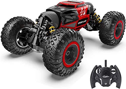 Wghz RC Car, 4X4 Kids Off Road 1:14 Gran tamaño Transform Remote Control Car High con Monster Truck Recargable con orugas para niños y Adultos Niños Niños Niñas Regalos Juguete (tamaño: 2 Paquete