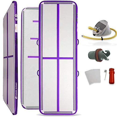 sinolodo aire planta portátil hinchable Tumbling pista para uso en interiores y al aire libre, Púrpura