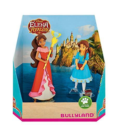 Bullyland 13081 - Juego de Figuras de Walt Disney Avalor, Set de Regalo Elena e Isabel (Aprox. 7,8 y 10 cm, Multicolor