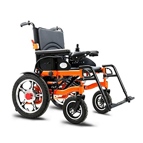 ZWYSL Electric Wheelchair Lightweight - Elderly Folding Wheelchair with Electric Power or use as Manual Wheelchair, Seat Width 51Cm, Weight Capacity 100Kg (Size : 25AH)