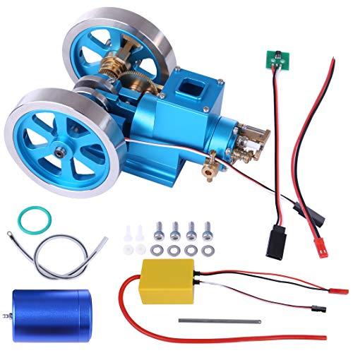 TETAKE Verbrennungsmotor Modell Bausatz, Ottomotor Modell, Dieselmotor Modell, Lernspielzeug, Pädagogisches Spielzeug Geschenk für Technikinteressierte Bastler, Mini