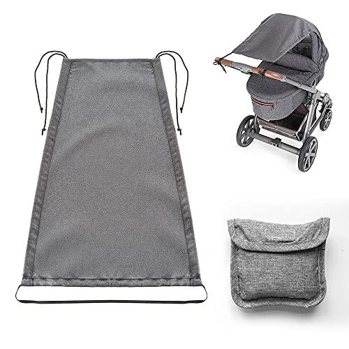 Toldo universal para cochecito de bebé para cochecito de bebé con protección UV 50+ impermeable y función deslizante para carrycots y cochecito