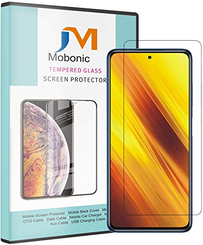 Mobonic® Screen Protector Compatible with Poco X3 Tempered Gorilla Glass Guard Screen Protector
