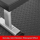MNBVH Laufband Bodenschutzmatte/Schallschutzmatte/Antivibrationsmatte/Unterlage Antirutsch/Antirutschmatte/Fitnessgeräte Schutzmatte, Fitnessgeräte Unterlegmatte - Schwarz 175×80×1cm - 2