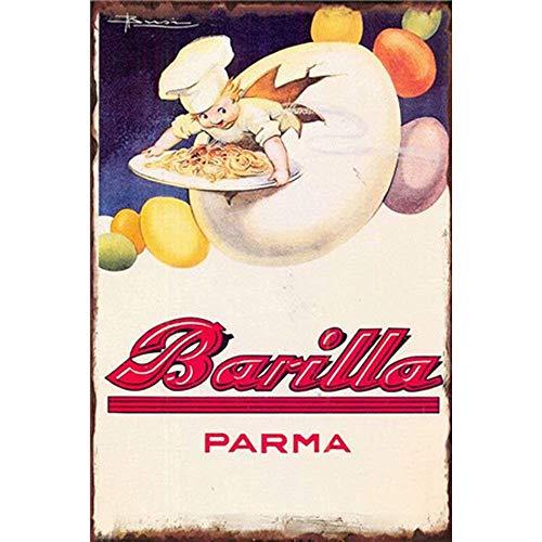 HALEY GAINES Barilla Parma Placa Cartel Póster de Pared Metal Vintage Cartel...