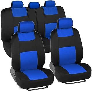 Car Seat Cover Universal 5-seat Car Seat 9-Piece (Color : Blue)