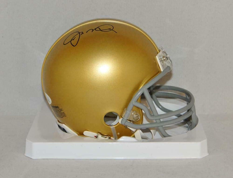 Joe Montana Autographed Notre Dame Riddell Mini Helmet Witnessed Auth  JSA Certified  Autographed College Mini Helmets