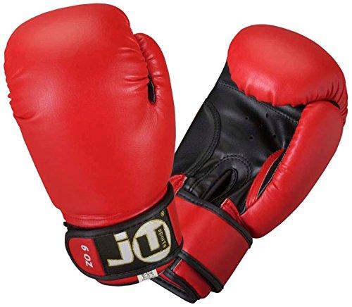 Ju-Sports Kinder Boxhandschuhe Plus, rot/schwarz, 6 oz, 6034006
