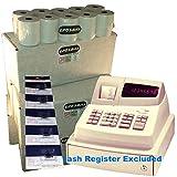 eposbits® marca 100rollos + 5x de tinta para Sharp XE-A101XEA-101XEA101caja registradora