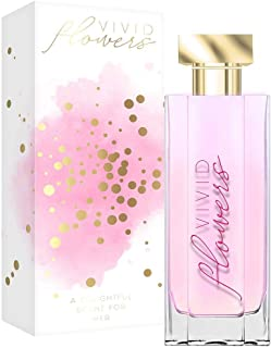 Vivid Flowers Eau De Parfum Spray, Fragrance For Women-Casual, Daily Cologne Set with Deluxe Suede Pouch- 3.4 oz -Ideal EDP Beauty Gift for Birthday, Anniversary