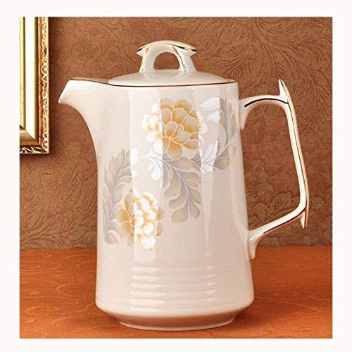 1500ml gaz Bouilloire céramique Bouilloire Teapot haute température Résistance for thé jus Jus d'eau en verre froid Teakettle blanc UOMUN