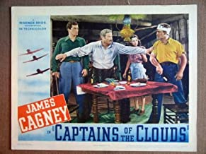 ET07 Captains Of Clouds JAMES CAGNEY 1942 Lobby Card. This is an original lobby card; not a dvd or video. Lobby cards were used to advertise film playing at theater and they measure 11 by 14 inches.