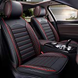 Juego de fundas de asiento de coche para Mercedes Benz Clase E W210 W211 W212 W213 W124 C Class W202 W203 W204 W205 GLK 350 X204 GLC 300 M Class Ml320 Ml 350 W16 3W16 4W166 GLE (rojo)