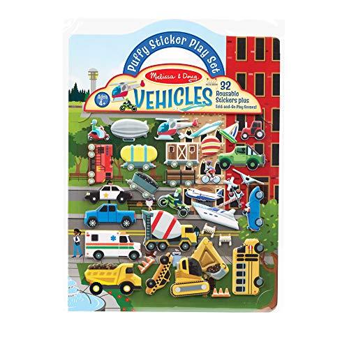 Melissa & Doug | Wiederverwendbare Puffy Stickers-Vehicles | Aktivitätsbücher | ab 3 Jahren | Geschenk für Jungen oder Mädchen