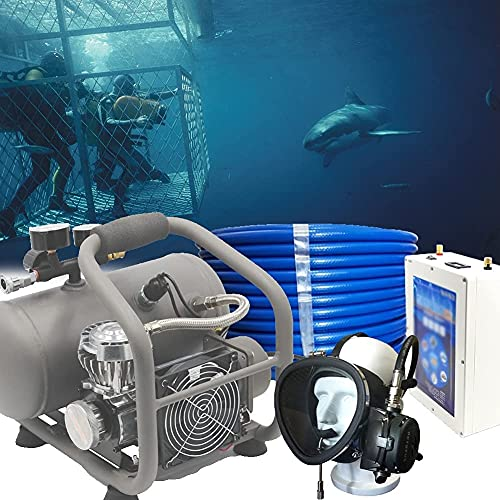WXFCAS Portable Rechargeable Scuba Diving System, Diving High Pressure Air Compressor Kit with Diving Goggles, Diving Dedicated Tube for Depth: 49.21ft / 15M - 65.62ft / 20M (Color : 0, Size : 0)