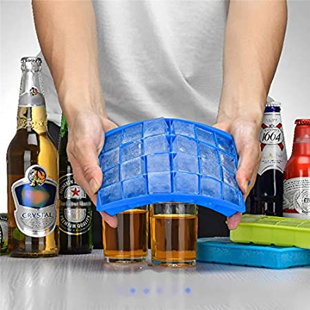 Cartshopper 24 Ice Cube Hot Silicone Freeze Mold Bar Pudding Jelly Chocolate Maker Mold Box Cold Drinking