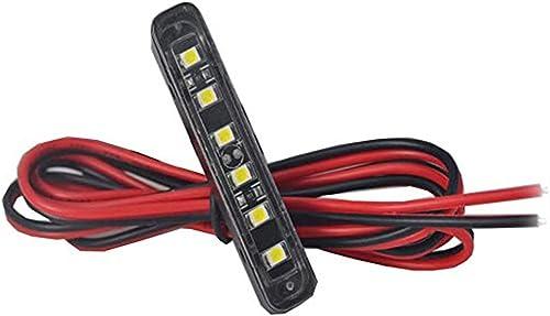 JinXiu Barre lumineuse, 6 LED pour plaque d'immatriculation, éclairage d'appoint, feu arrière ou de freinage pour véh...