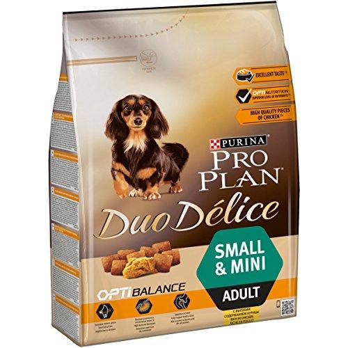 PURINA Pro Plan Duo Délice Comida Seco para Perro Adulto Pequeño, Sabor Pollo con Arroz - 2.5 Kg