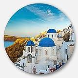 Designart Beautiful Santorin Houses Greece Wall Art - Disc