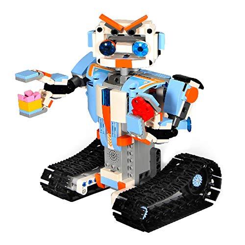 Aibecy Robot inteligente Kit de bricolaje Bloque de construcción inteligente programable regalo Ciencia Ingeniería Aprendizaje educativo STEM Control remoto y aplicación de teléfono inteligente