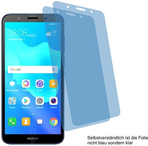 4ProTec I 2X Crystal Clear klar Schutzfolie für Huawei Y5 Prime 2018 Bildschirmschutzfolie Displayschutzfolie Schutzhülle Bildschirmschutz Bildschirmfolie Folie