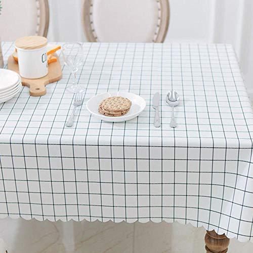 WJPL Elegante mantel de cocina rectangular plastificado mantel de mesa impermeable de PVC antiaceite impermeable antipolvo color beige de alta calidad LQ-152