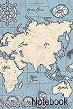 Notebook: A Vintage World Map Notebook Gift Journal