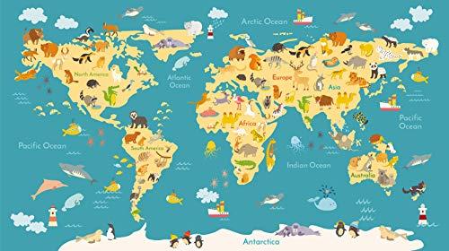 AptoFun Puzzle di Legno 750*500*2 mm con 1000 Pezzi - Mappa del Mondo con Animali - per Grandi e piccini - Giocare Insieme: concentrazione e Divertimento
