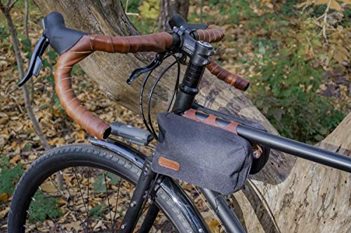 Oopsmark Bike Purse Frame Bag - for Bicycles And Crossbody Wear (Nero)