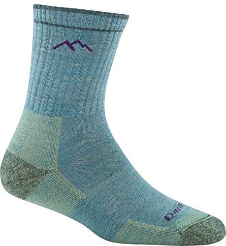 Darn Tough Hiker Micro Crew Cushion Socks - Women's Aqua Heather Medium