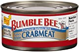 BUMBLE BEE Crab Meat, Fancy White, 6 Ounce Can, High Protein Food and Groceries, Keto Food, Gluten Free, High Protein Snacks