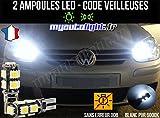 MyAutoLight - Coffret Ampoules Led Voiture - Veilleuses - Blanc Pur Xénon Pour Golf 5 - Feux Avant