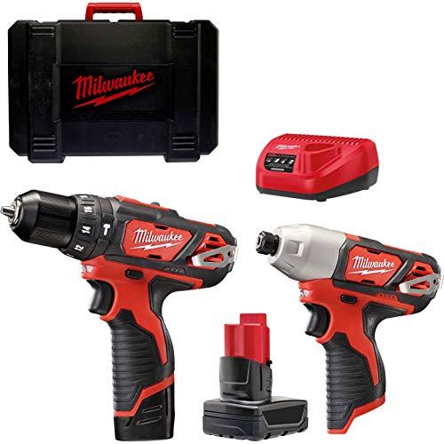 MILM12BPP2B4 M12 BPP2B compacto Twin Pack 12 Volt 1 x 4.0Ah y 1 x 2.0Ah Li-Ion