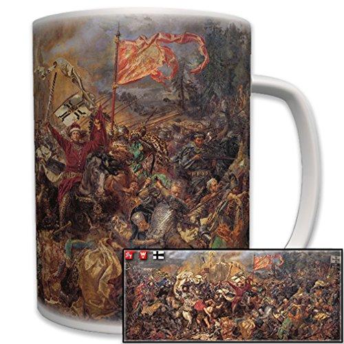 #6422 Cup/Mok Slag bij Tannenberg 1410 Duitsland Polen Ridder Bestel Schilderij