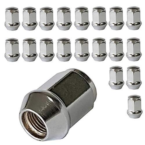 20 Radmuttern Kegelbund geschlossen M12x1,25 HEX19 NI