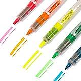 MICEROSHE Planner Marker 5 Forniture Pz evidenziatore Fluorescente pennarelli Penna di Scuola Ufficio (Colore : Multicolore, Dimensione : 5 PCS)