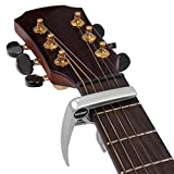 Neewer 52068105 - Cejilla plateada, diseñada especialmente para ukelele, banjo y mandolina, para usar con una sola mano